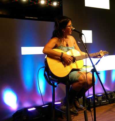 Rosanna D'Agnillo performing original repertoire at Koi